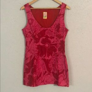 Free People pink and red Dress Size 8